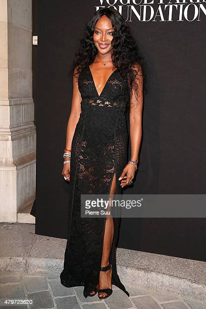 Naomi Campbell attends theVogue Paris Foundation Gala at Palais Galliera on July 6 2015 in Paris France