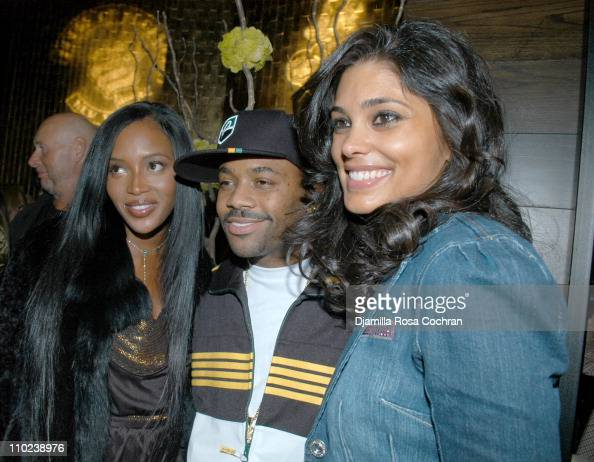 Naomi Campbell Damon Dash and Rachel Roy during Patricia Field for the House of Rocawear Lounge at Ono at the Hotel Gansevort in New York City New...