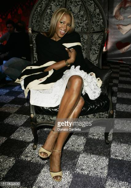 Naomi Campbell during Disney's Alice in Wonderland Mad Tea Party at Private Residence in Los Angeles California United States