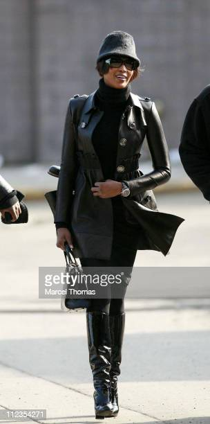 Naomi Campbell during Naomi Campbell Sighting at the Sanitation Department of New York City on Her Third Day of Community Service March 21 2007 at...