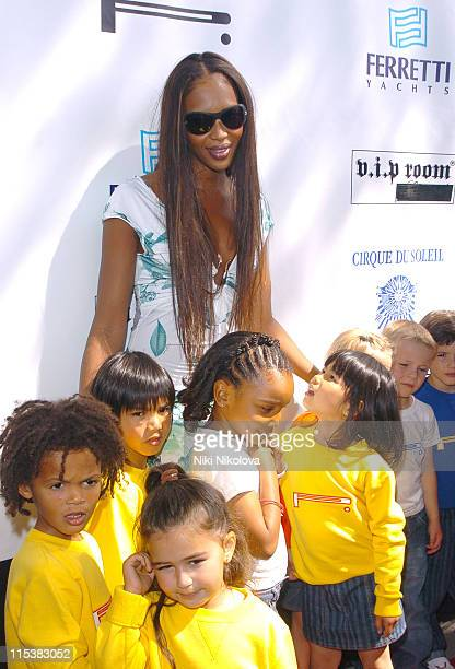 Naomi Campbell during Naomi Campbell's Le Carnival d'Or Luncheon In Aid Of The Nelson Mandela Childrens Fund at Palm Beach in Cannes France