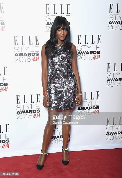 Naomi Campbell during the Elle Style Awards 2015 at Sky Garden @ The Walkie Talkie Tower on February 24 2015 in London England