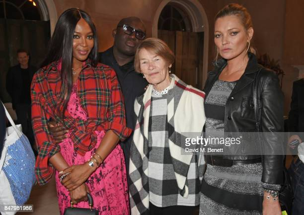 Naomi Campbell Edward Enninful Glenda Jackson and Kate Moss wearing Burberry at the Burberry September 2017 at London Fashion Week at The Old...