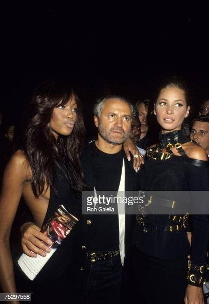 Naomi Campbell Gianni Versace and Christy Turlington