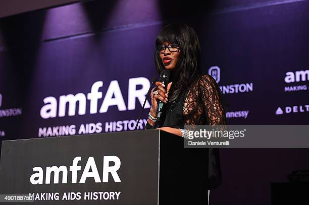Naomi Campbell is seen at amfAR Milano 2015 at La Permanente on September 26 2015 in Milan Italy