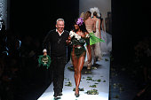 Naomi Campbell Jean Paul Gaultier walk the runway during the Jean Paul Gaultier show as part of Paris Fashion Week Haute Couture Spring/Summer 2015...