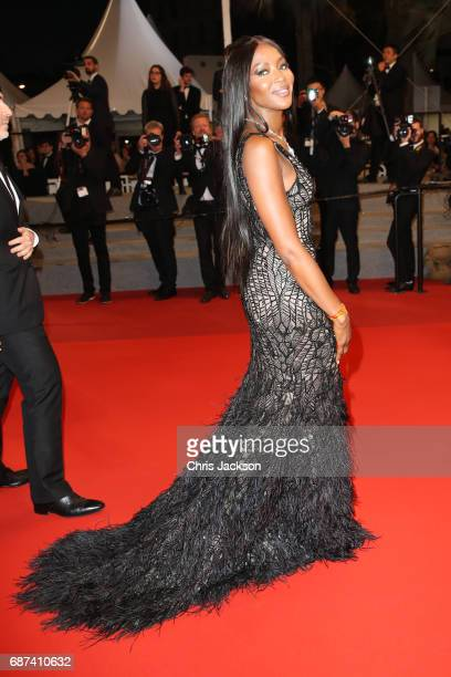 Naomi Campbell leaves the 70th Anniversary of the 70th annual Cannes Film Festival at Palais des Festivals on May 23 2017 in Cannes France
