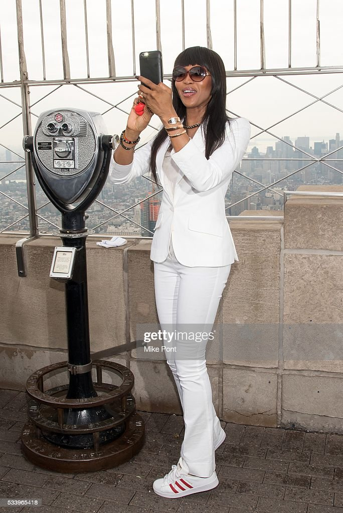 <a gi-track='captionPersonalityLinkClicked' href=/galleries/search?phrase=Naomi+Campbell&family=editorial&specificpeople=171722 ng-click='$event.stopPropagation()'>Naomi Campbell</a> lights The Empire State Building in honor of Red Nose Day on May 24, 2016 in New York City.