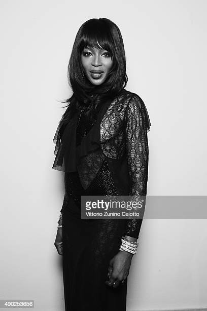 Naomi Campbell poses at amfAR Milano 2015 at La Permanente on September 26 2015 in Milan Italy