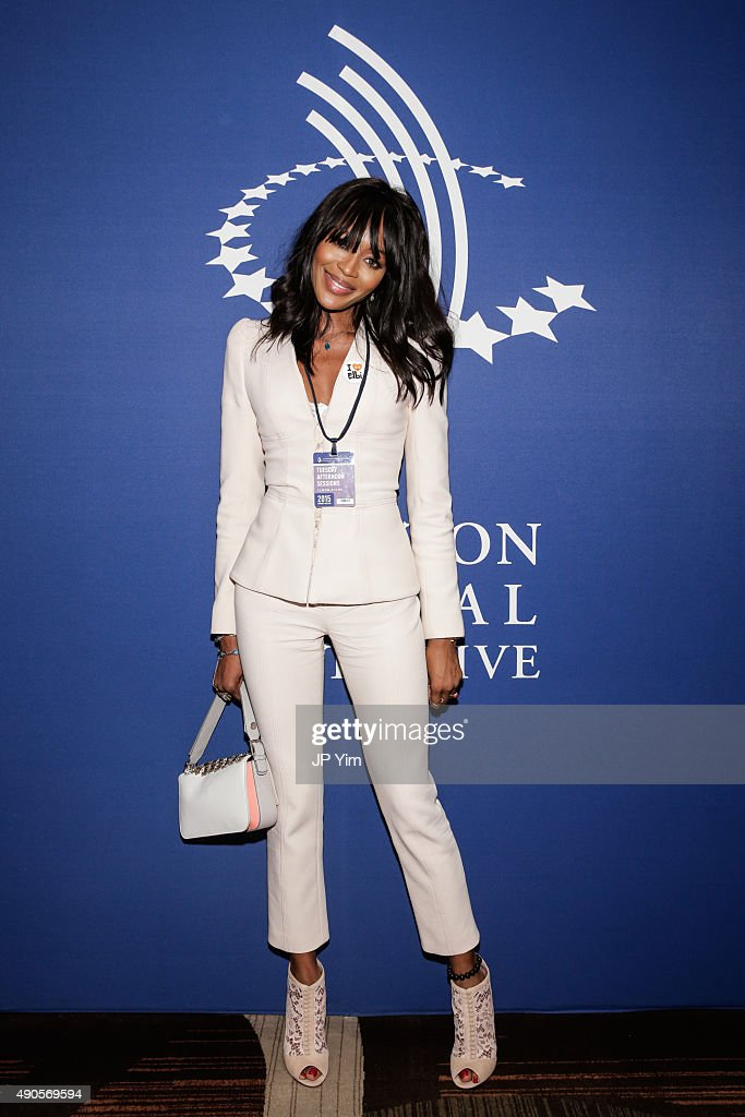 Naomi Campbell poses at the 2015 Clinton Global Initiative's Annual Meeting at the Sheraton New York Times Square Hotel on September 29, 2015 in New York City.