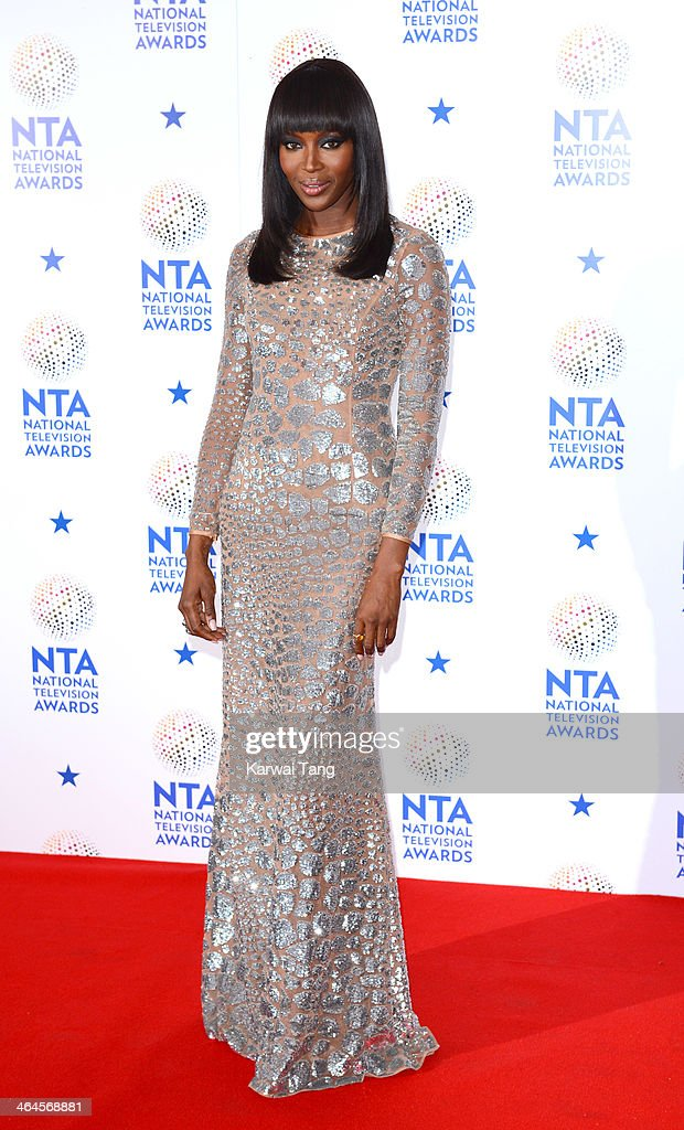 Naomi Campbell poses in the winners room at the National Television Awards at the 02 Arena on January 22, 2014 in London, England.