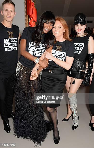 Naomi Campbell Sarah Ferguson and Viktoria Modesta walk the runway at the Fashion For Relief charity fashion show to kick off London Fashion Week...
