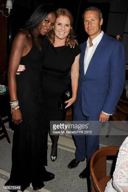 Naomi Campbell Sarah Ferguson Duchess of York and Vladislav Doronin attend as Naomi Campbell hosts an Olympic Celebration Dinner in partnership with...
