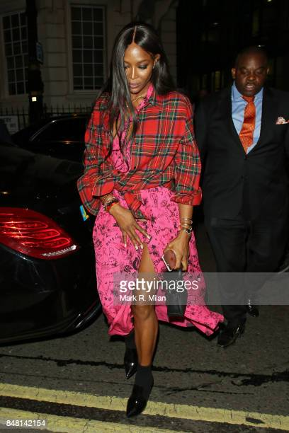 Naomi Campbell seen during London Fashion Week September 2017 on September 16 2017 in London England