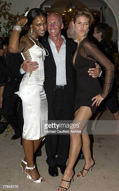Naomi Campbell trainer David Kirsch and Heidi Klum during the Vincent Longo 5th Anniversary event benefiting amfAR and Sabera cohosted by Trudie...