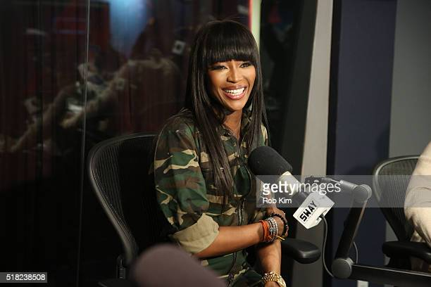 Naomi Campbell visits 'Sway in the Morning' with Sway Calloway on Eminem's Shade 45 at SiriusXM Studios on March 30 2016 in New York City