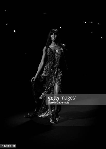 Naomi Campbell walks the runway at her Fashion For Relief Charity Fashion Show during MercedesBenz Fashion Week Fall 2015 at The Theatre at Lincoln...