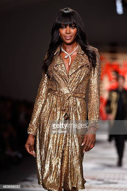 Naomi Campbell walks the runway at the Fashion For Relief charity fashion show to kick off London Fashion Week Fall/Winter 2015/16 at Somerset House...