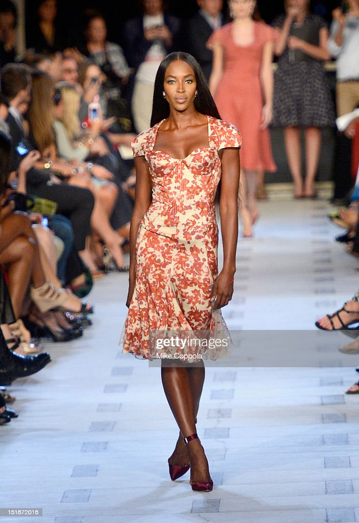 <a gi-track='captionPersonalityLinkClicked' href=/galleries/search?phrase=Naomi+Campbell&family=editorial&specificpeople=171722 ng-click='$event.stopPropagation()'>Naomi Campbell</a> walks the runway at the Zac Posen Spring 2013 fashion show during Mercedes-Benz Fashion Week at Avery Fisher Hall at Lincoln Center on September 9, 2012 in New York City.