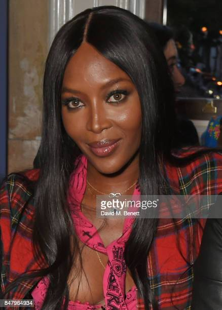Naomi Campbell wearing Burberry at the Burberry September 2017 at London Fashion Week at The Old Sessions House on September 16 2017 in London England