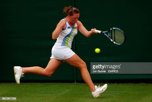 Naomi Cavaday in action against Martina Hingis
