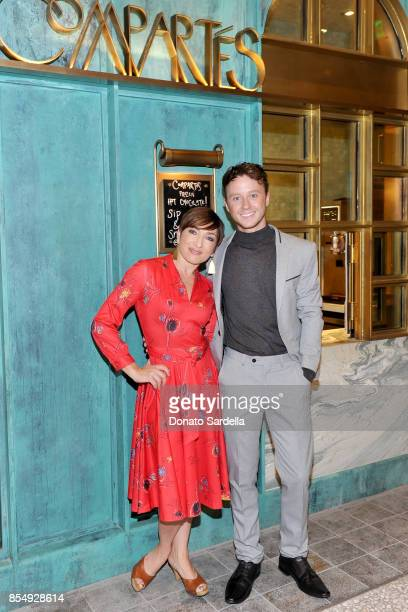 Naomi Grossman and Jonathan Grahm celebrate the Compartes Chocolatier Century City Flagship Store Opening on September 27 2017 in Los Angeles...