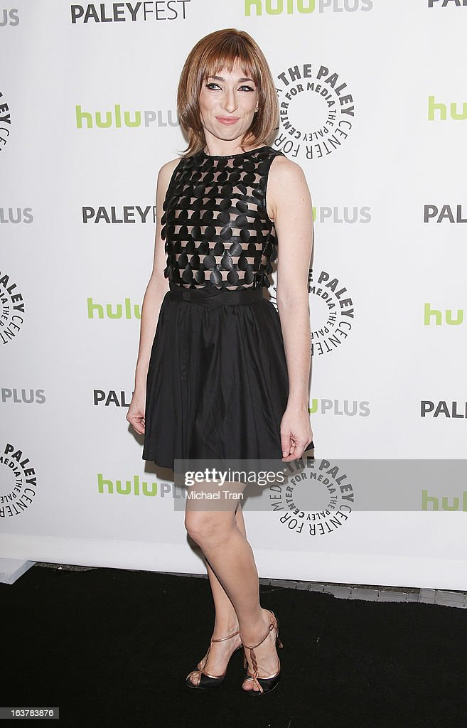 <a gi-track='captionPersonalityLinkClicked' href=/galleries/search?phrase=Naomi+Grossman&family=editorial&specificpeople=7644248 ng-click='$event.stopPropagation()'>Naomi Grossman</a> arrives at the 30th Annual PaleyFest: The William S. Paley Television Festival - 'American Horror Story: Asylum' - closing night presentation held at Saban Theatre on March 15, 2013 in Beverly Hills, California.