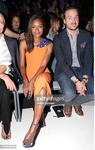Naomi Harris and John Cloppenburg attend the 'Designer for Tomorrow' during the MercedesBenz Fashion Week Berlin Spring/Summer 2017 at Erika Hess...
