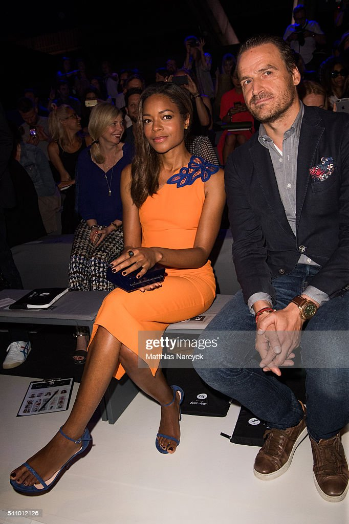 Naomi Harris and John Cloppenburg attend the 'Designer for Tomorrow' show during the Mercedes-Benz Fashion Week Berlin Spring/Summer 2017 at Erika Hess Eisstadion on June 30, 2016 in Berlin, Germany.