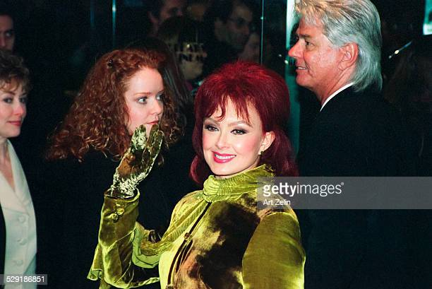 Naomi Judd waving to fans circa 1990 New York