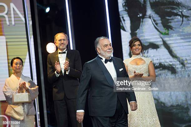 Naomi Kawase Anton Corbijn Francis Ford Coppola and Richa Chadda attend the Opening Ceremony of the 15th Marrakech International Film Festival on...