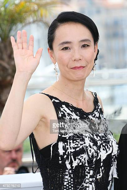 Naomi Kawase attends the 'An' photocall during the 68th annual Cannes Film Festival on May 14 2015 in Cannes France