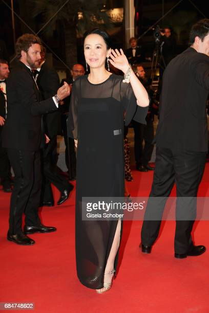 Naomi Kawase attends the 'Blade Of The Immortal ' screening during the 70th annual Cannes Film Festival at Palais des Festivals on May 18 2017 in...