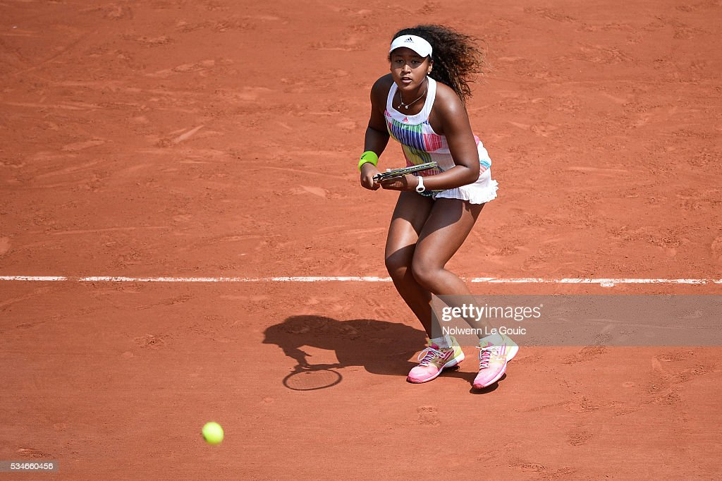 Naomi Osaka during the Women's Singles third round on day six of the French Open 2016 at Roland Garros on May 27, 2016 in Paris, France.