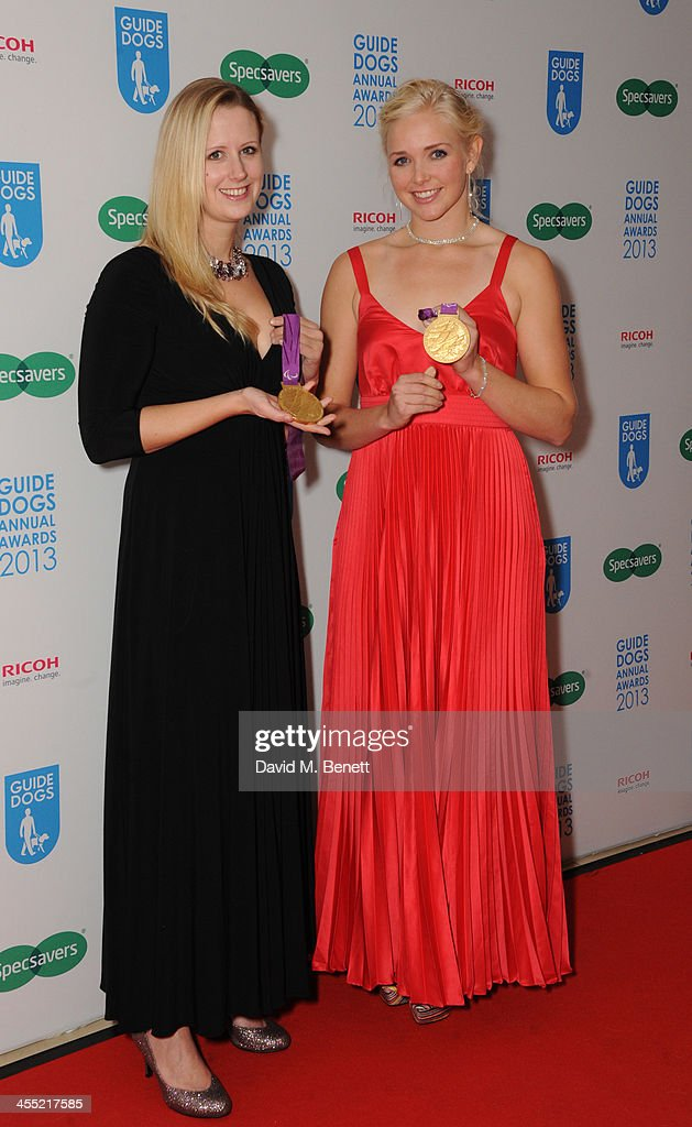 Naomi Riches MBE and Pamela Relph MBE attends the Guide Dogs UK Annual Awards 2013 at the London Hilton on December 11, 2013 in London, England.