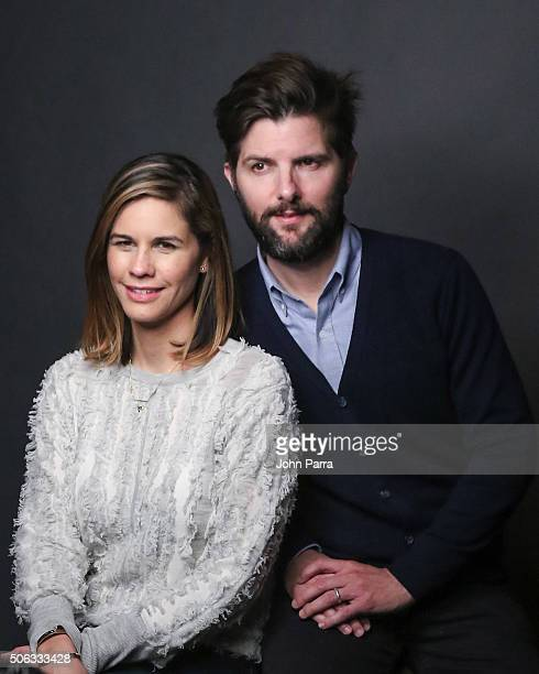 Naomi Scott and Adam Scott from the film 'Other People' pose for a portrait during The Hollywood Reporter 2016 Sundance Studio at Rock Reilly's Day 1...