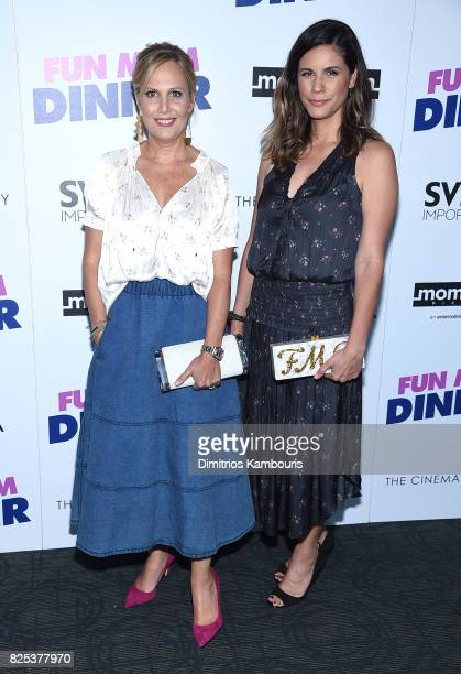 Naomi Scott and Julie Rudd attend the screening Of 'Fun Mom Dinner' at Landmark Sunshine Cinema on August 1 2017 in New York City