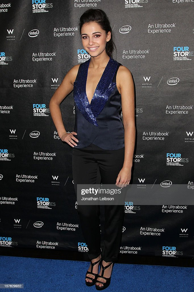 Naomi Scott attends the 'Four Stories' - Los Angeles Premiere at W Los Angeles-Westwood on December 4, 2012 in Los Angeles, California.