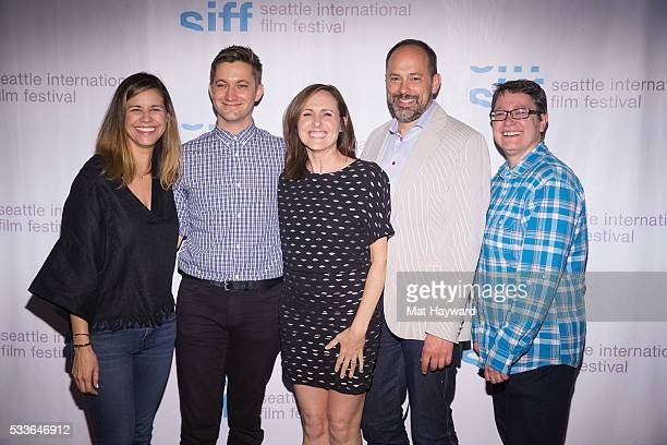Naomi Scott Chris Kelly Molly Shannon Carl Spence and Beth Barrett pose for a photo before the Seattle International Film Festival screening of...