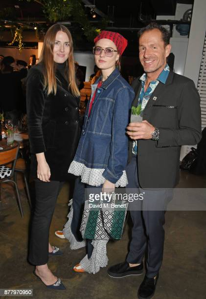 Naomi Smart Christabel MacGreevy and Paul Giles Creative Director of Bird In Hand attend an intimate dinner hosted by Henry Holland and Andrew Nugent...
