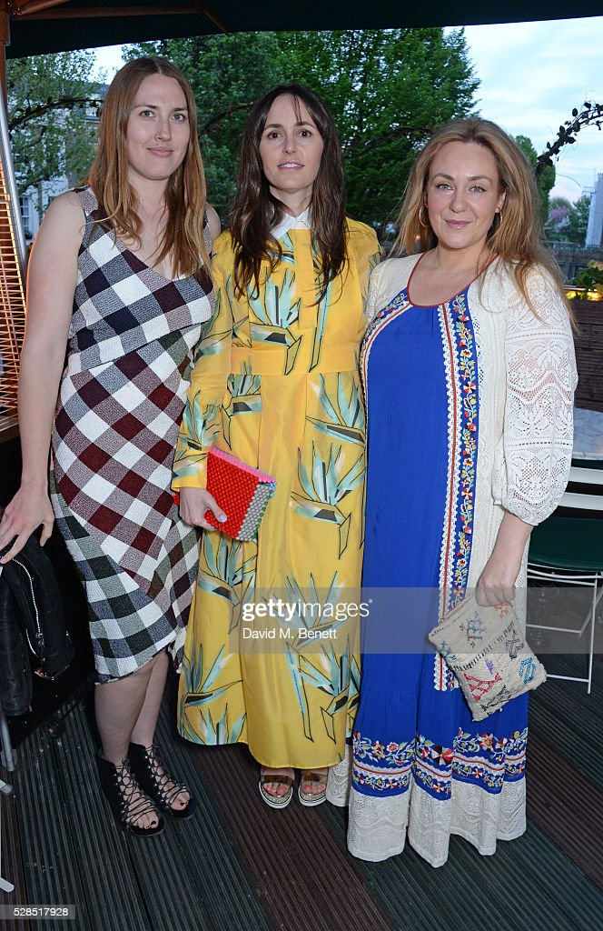 Naomi Smart, Tania Fares and guest attend a private dinner hosted by Rodial founder Maria Hatzistefanis & Bay Garnett at Casa Cruz on May 5, 2016 in London, England.