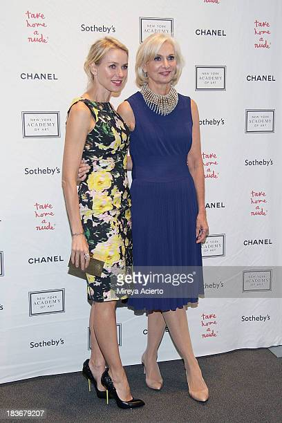 Naomi Watts and Eileen Guggenheim attend the 2013 'Take Home A Nude' Benefit Art Auction And Party at Sotheby's on October 8 2013 in New York City