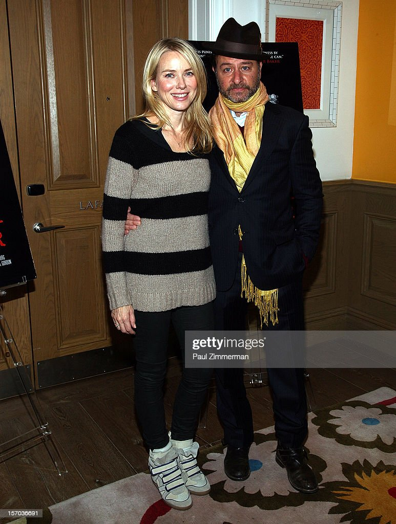 Naomi Watts and Fisher Stevens attend 'Beware Of Mr. Baker' New York Screeningat Crosby Street Hotel on November 27, 2012 in New York City.