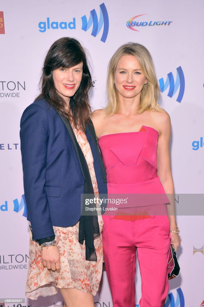 <a gi-track='captionPersonalityLinkClicked' href=/galleries/search?phrase=Naomi+Watts&family=editorial&specificpeople=171723 ng-click='$event.stopPropagation()'>Naomi Watts</a> (R) and guest attend the 25th Annual GLAAD Media Awards on May 3, 2014 in New York City.