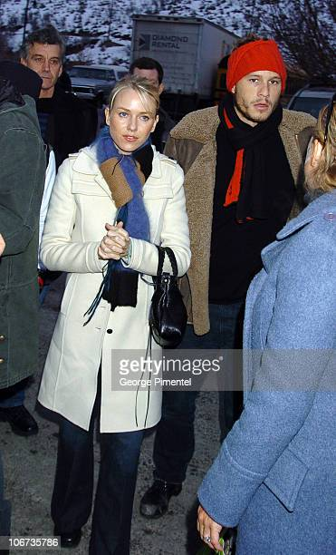 Naomi Watts and Heath Ledger during 2004 Sundance Film Festival Dramatic Competetion 'We Don't Live Here Anymore' Premiere at Library in Park City...