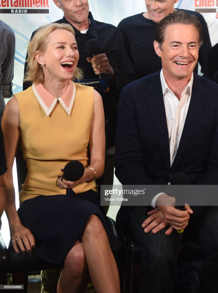 Naomi Watts and Kyle MacLachlan attend SiriusXM's Entertainment Weekly Radio Channel Broadcasts From Comic Con 2017 at Hard Rock Hotel San Diego on July 21, 2017 in San Diego, California.