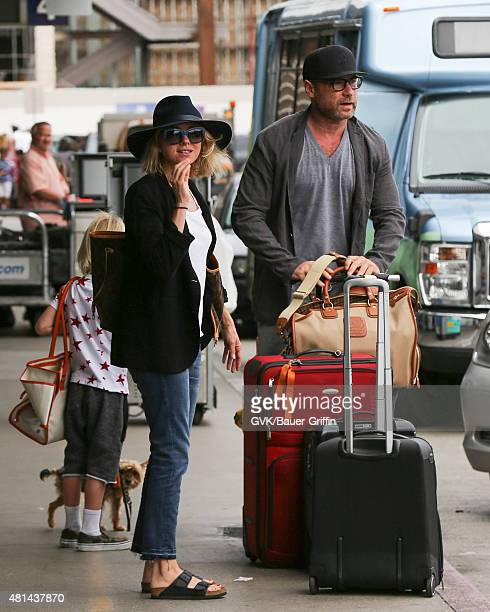 Naomi Watts and Liev Schreiber are seen at LAX on July 20 2015 in Los Angeles California
