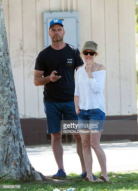 Naomi Watts and Liev Schreiber are seen on April 12 2015 in Los Angeles California