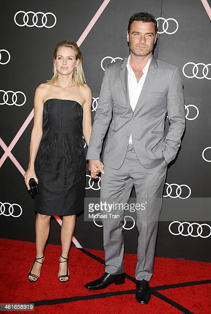 Naomi Watts and Liev Schreiber arrive at the Audi Golden Globe 2014 kick off cocktail party held at Cecconi's Restaurant on January 9 2014 in Los...