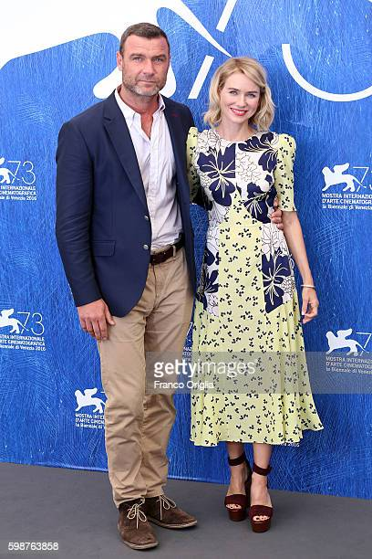 Naomi Watts and Liev Schreiber attend a photocall for 'The Bleeder' during the 73rd Venice Film Festival at Palazzo del Casino on September 2 2016 in...